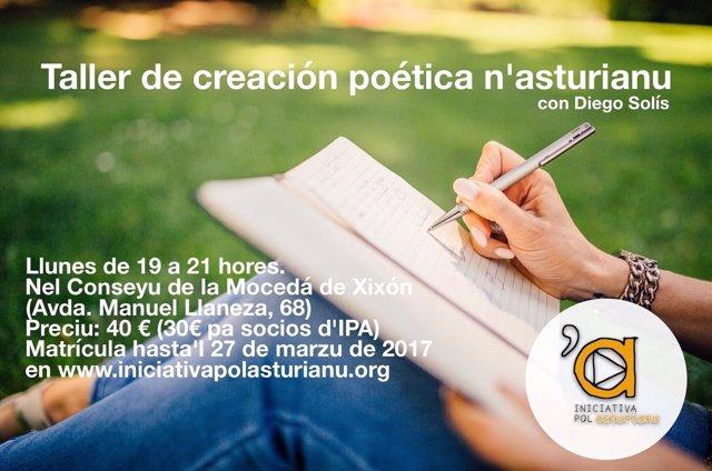 Cartel del curso de Iniciativa por Asturianu