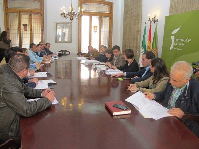 Reunión de la junta asesora del Consejo Provincial de Alcaldes y Alcaldesas.