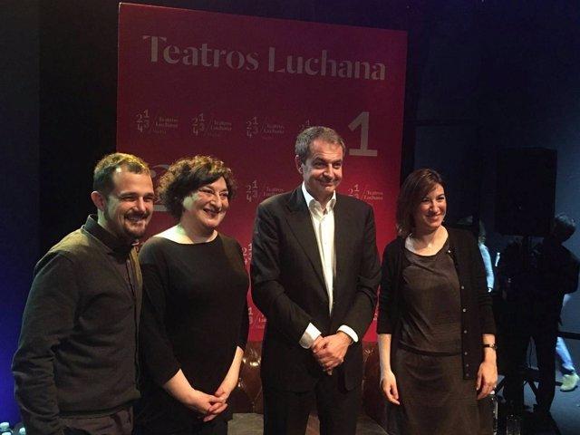 Zapatero en un acto de la Unión de Actores