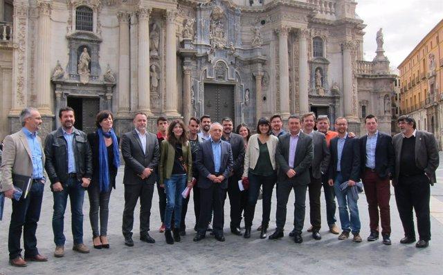 Socialistas apoyo candidatura Patxi López junto a Simancas