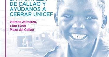 """UNICEF invita a provocar desde mañana """"un apagón benéfico"""" en la Plaza..."""
