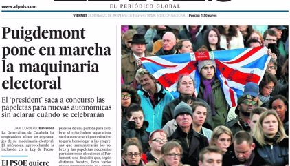 Las portadas de los periódicos de hoy, viernes 24 de marzo de 2017