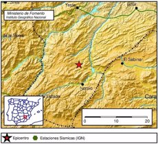 Registrat un terratrèmol de magnitud 2,6 a Nerpio (Albacete) (EUROPA PRESS/INSTITUTO GEOGRÁFICO NACIONAL)