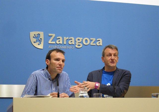 Pablo Muñoz y Fernando Rivarés, en rueda de prensa este viernes en Ayuntamiento
