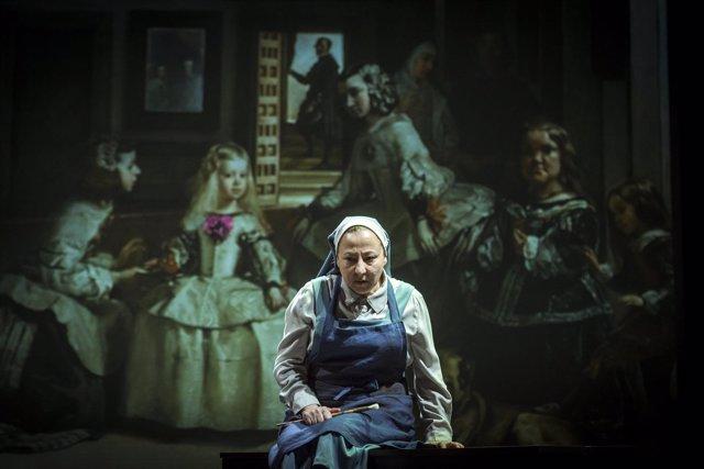 Un instante de la obra 'La autora de Las meninas' con Carmen Machi