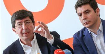 """Marín (Cs) acusa a Arenas y a Bendodo de """"amparar la corrupción política""""..."""