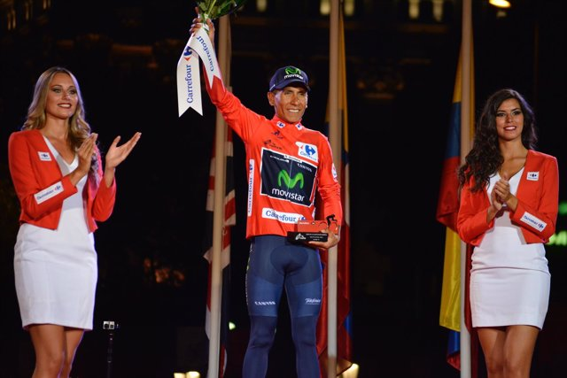 El ciclista colombiano Nairo Quintana (Movistar Team)