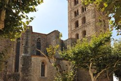 Inicien la rehabilitació de l'església de l'antic monestir de Sant Salvador de Breda (ACN)