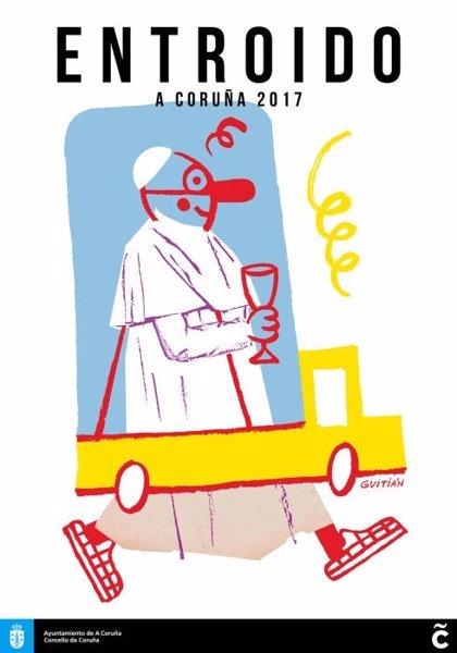 Citado como investigado el concejal de Culturas de La Coruña por un cartel del Carnaval con la figura del Papa