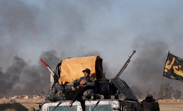 Fuerzas  especiales iraquíes en Mosul
