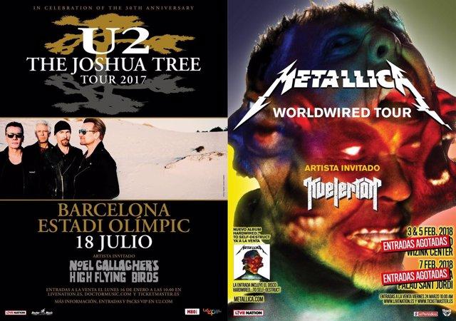 U2 Y METALLICA EN ESPAÑA