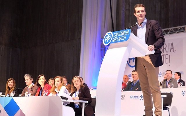 Pablo Casado en el Congreso del PP de Cantabria