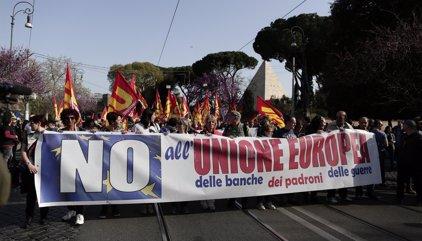 Las manifestaciones contra la cumbre de la UE en Roma concluyen de forma totalmente pacífica