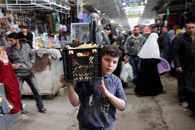 Mercado de Nabi Yunus, este de Mosul