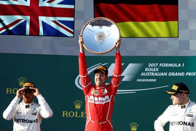 Lewis Hamilton Sebastian Vettel Valtteri Bottas Fórmula 1 Australia