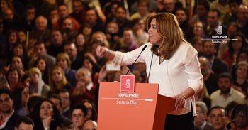Susana Díaz rechaza el voto del rencor y promete no entregar el PSOE a...
