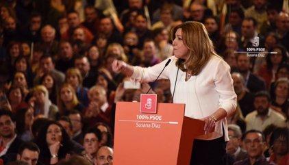"""Susana Díaz rechaza el voto del rencor y promete un proyecto """"autónomo"""" que no busca entregar el PSOE a otros"""