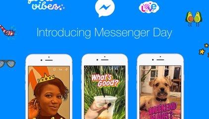 Todo lo que tienes que saber para usar Messenger Day, el Snapchat de Facebook Messenger