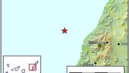 Registrado un terremoto de magnitud 3.4 cerca de Fuerteventura