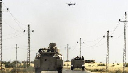 El Ejército de Egipto anuncia la muerte de ocho presuntos terroristas en el norte de la península del Sinaí