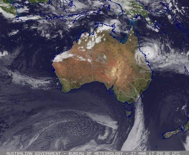 Las autoridades de Australia recomiendan evacuar a más de 25.000 personas por la llegada del ciclón 'Debbie'