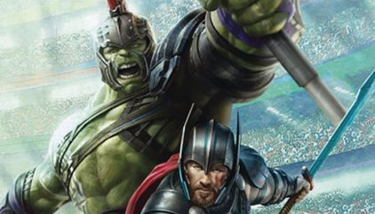 Nuevas imágenes de los gladiadores Hulk y Thor en Ragnarok