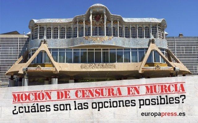 Alternativas por la moción de censura en Murcia.