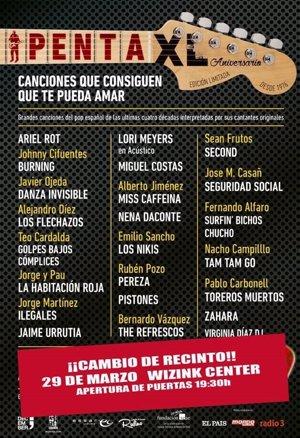 El concierto por el 40 aniversario del Penta se traslada al WiZink Center de Madrid