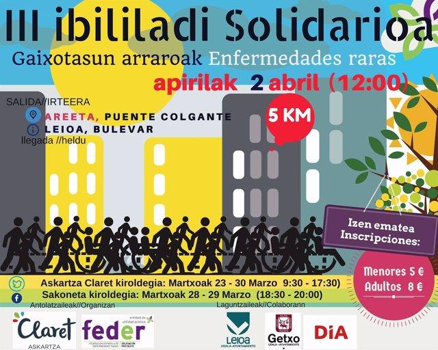 Cartel de la prueba solidaria de FEDER