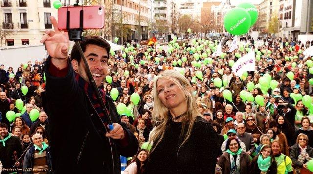 Concentración en Madrid en defensa de la vida 2017