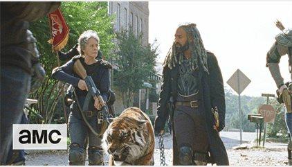 The Walking Dead: El rey Ezekiel y su brutal Shiva entran en juego en los dos nuevos avances del 7x16