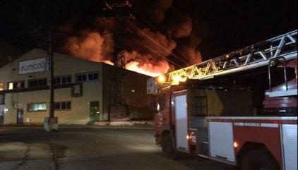 Registrado un incendio en una nave industrial de Getafe