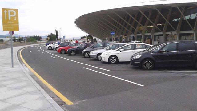 Parking salidas aeropuerto de Bilbao