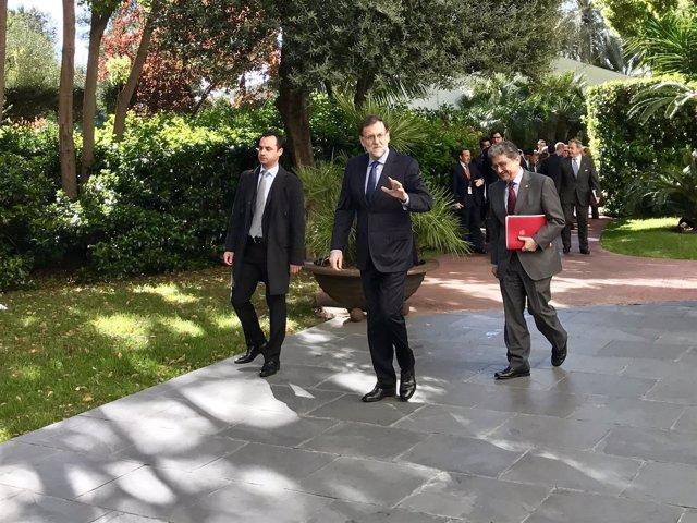 Mariano Rajoy y Enric Millo