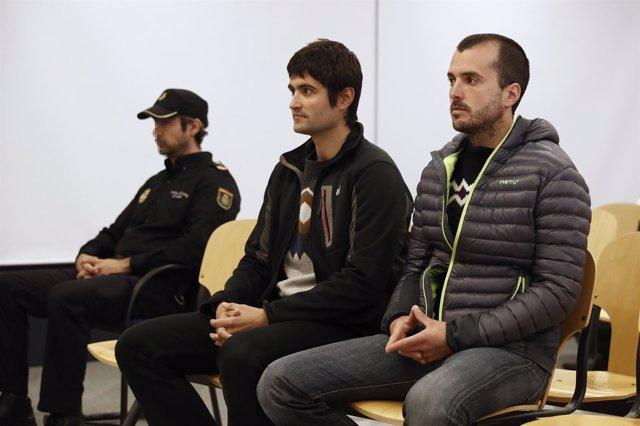 Joanes Larretxea y Beñat Aginagalde, presuntos asesinos de Ignacio Uría
