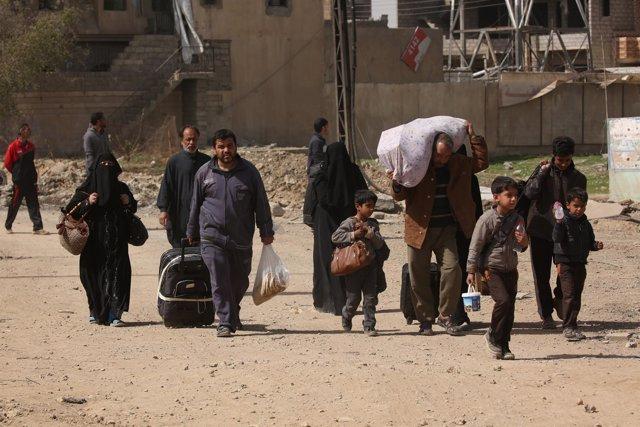 Desplazados en Mosul