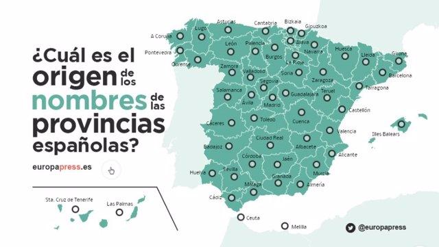 ¿Cuál Es El Origen De Los Nombres De Las Provincias Españolas?