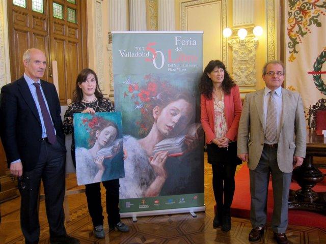 Acto de presentación de la Feria del Libro y el cartel anunciador.