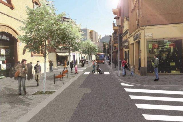 Sant Boi transformará la calle de Lluís Pascual Roca en un paseo urbano