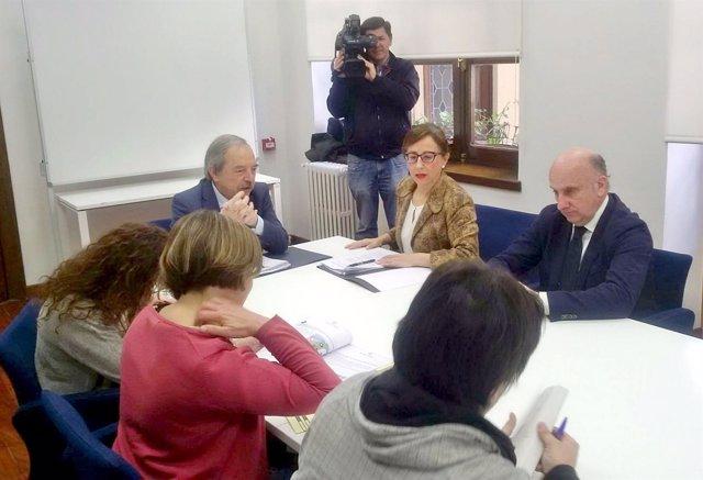 Comisión entre Ayuntamiento y Principado sobre terrenos del antiguo HUCA.