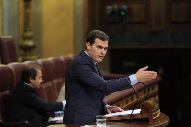 Albert Rivera en el debate en el Congreso sobre el Consejo Europeo