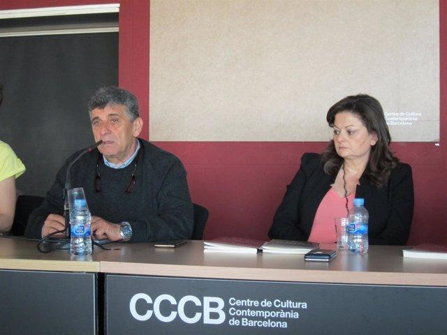El médico italiano Pietro Bartolo y la periodista Lidia Tilotta