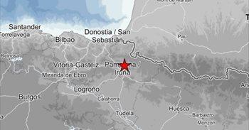 Cuatro terremotos este martes en Navarra, con intensidades entre 3 y 1,5