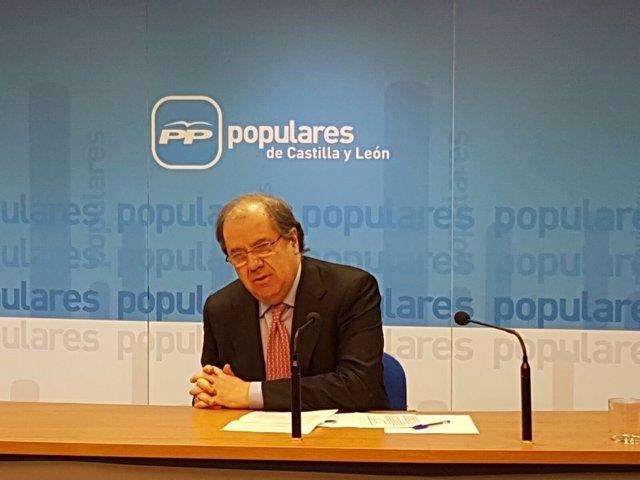 Valladolid: Herrera durante la rueda de prensa