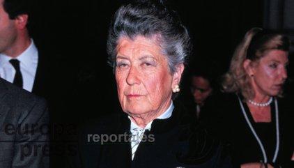 Muere la Infanta Alicia de Borbón, tía del Rey Juan Carlos
