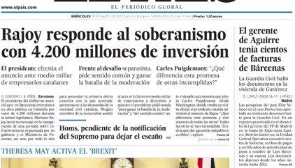 Las portadas de los periódicos de hoy, miércoles 29 de marzo de 2017
