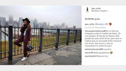 Paula Echevarría aprende la lección y se viste de turista en Nueva York