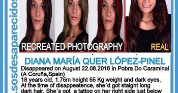 La madre de Diana Quer cree que su hija puede estar en Estados Unidos por...
