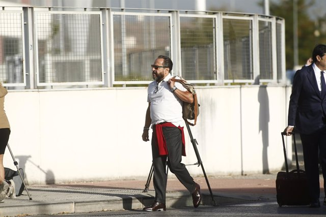 Álvaro Pérez, 'El Bigotes', a su entrada a la Adiencia Nacional