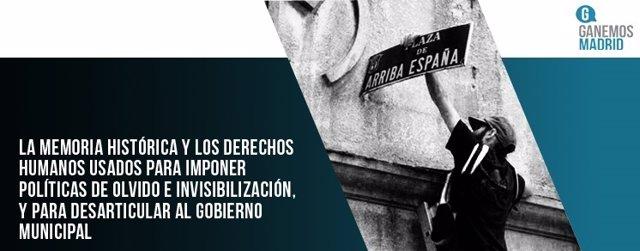 Ganemos Madrid sobre Memoria Histórica